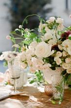 Outdoor Elegant Hollywood Style Wedding Flowers