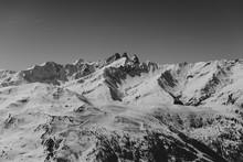 Black And White Mountain View