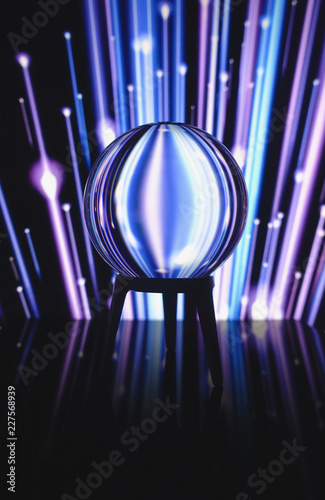 Crystal ball and ultraviolet lights Refraction of light