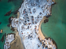 Aerial View Of Sommaroy On A C...