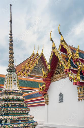 Fotobehang Bedehuis Wat Pho Temple in Bangkok, Thailand