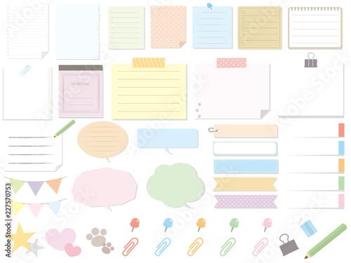 Cuadros en Lienzo カラフルなメモ用紙素材