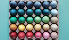 Colorful Eggs For Easter