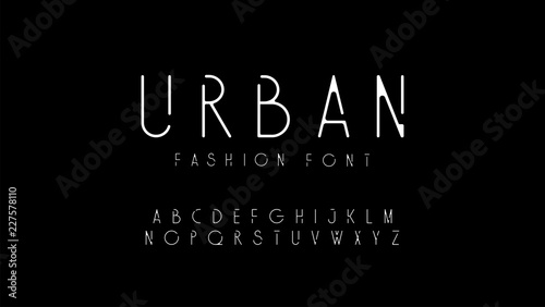Fototapeta urban fashion modern alphabet. designs for logo, Poster, Invitation, etc. Typography font uppercase. vector illustrator obraz
