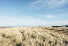 Vast Empty Beach And Sand Dunes At Holkham. Norfolk, UK.