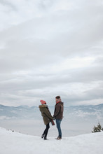 Couple At The Mountains