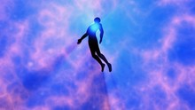 Man Floating, Rising Into Spac...