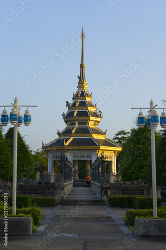Tuinposter Temple Wat Chaloem Phrakiat Worawihan Temple , Nontaburi , Thailand