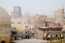 Middle Eastern Cityscape With Tilt Shift Lens