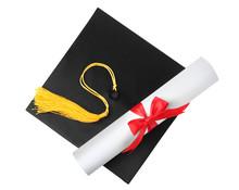 Graduation Hat With Gold Tasse...