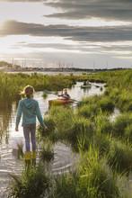 Family Kayak On Chesapeake Bay
