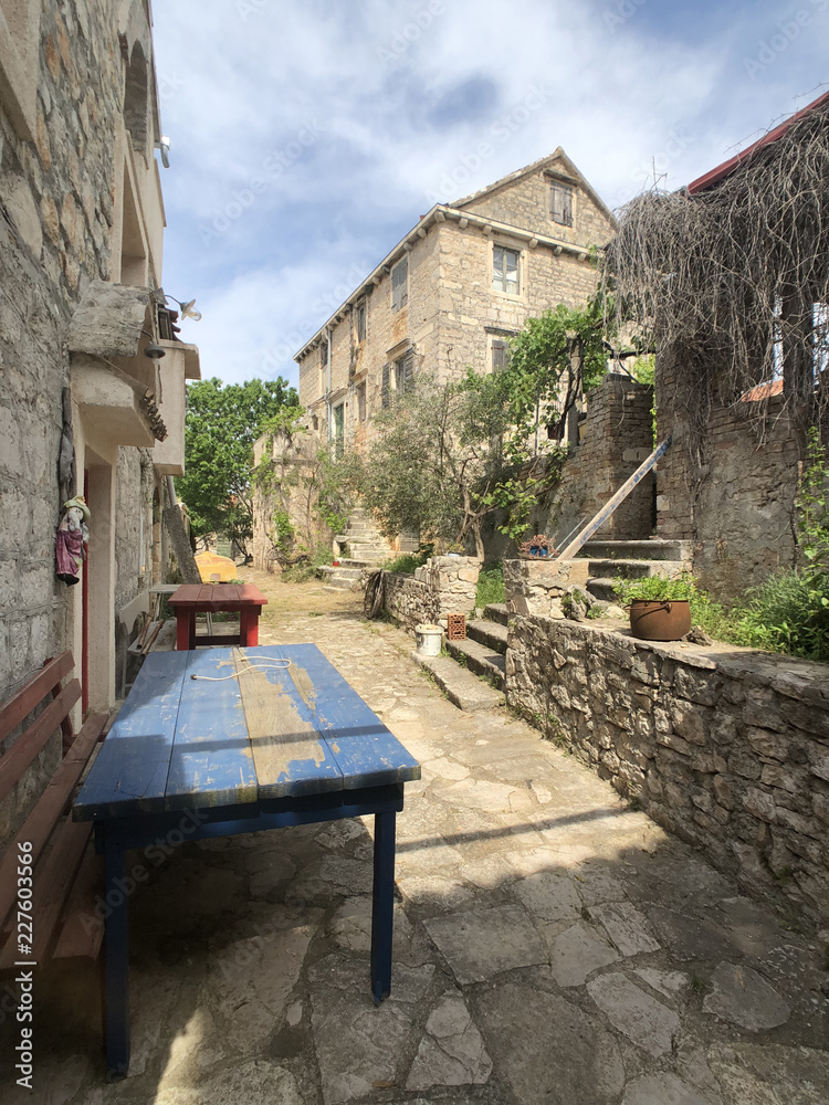 Alley in the old town of Zlarin