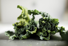 Kale Cabbage Leaves On A Clean...