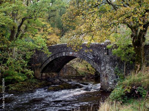 Keuken foto achterwand Bruggen old stone bridge over the river