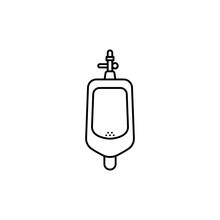 Toilet Men Urinal Icon.