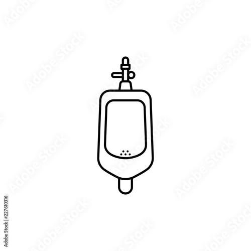 Toilet men urinal icon. Fototapeta