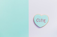 Pale Valentine Candy Cookies W...