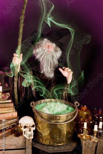 Sorcerer's soup Canvas Print