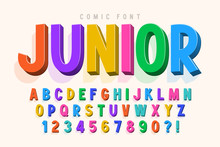 Trendy 3d Comical Font Design,...