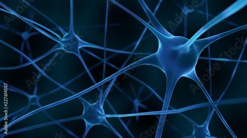 Fotografía  3d Render inactive brain cells