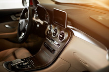 Luxury Car Interior Steering W...