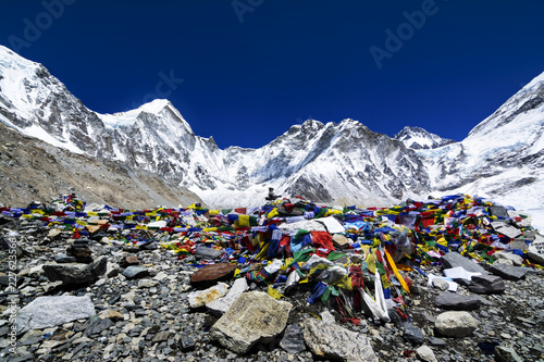 Wall Murals Nepal Everest Base Camp at 5,364 meters in Nepal.
