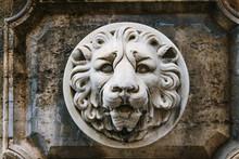 Crowned Lion Head Under An Italian Window