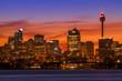 Colourfull evening skyline of Sydney