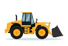 Vector Design Of Front Loader....