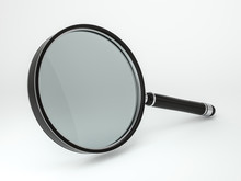 Magnifying Glass Isolated On W...