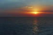 Beautiful sunset on the sea. Summer background.