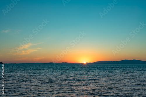 Staande foto Zee / Oceaan Seascape with sunset views over the Pacific ocean.