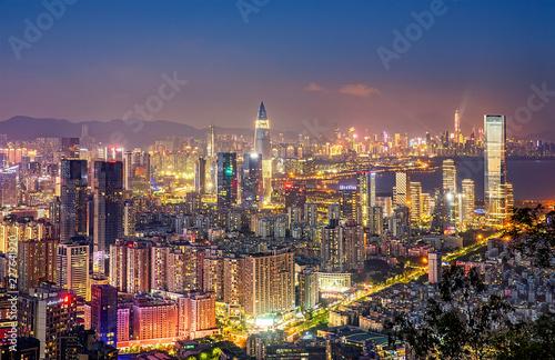 Canvas Prints Kuala Lumpur Shenzhen city night scenery