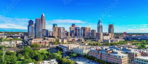 Obraz Charlotte, North Carolina, USA Skyline Aerial - fototapety do salonu