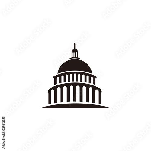 Fotografia, Obraz  Capitol building logo template