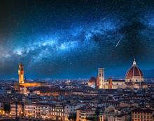 Milky Way And Falling Stars Ov...