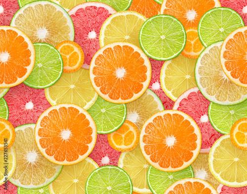 Citrus fruits background Fototapete