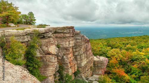 Fototapeta Panoramic view in Minnewaska State Park Reserve, Upstate NY, USA