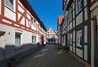 In der Altstadt von Seligenstadt, Hessen, Deutschland