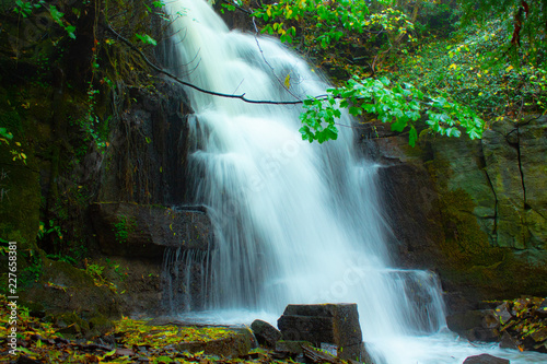 Waterfall at Harmby Falls in the forest