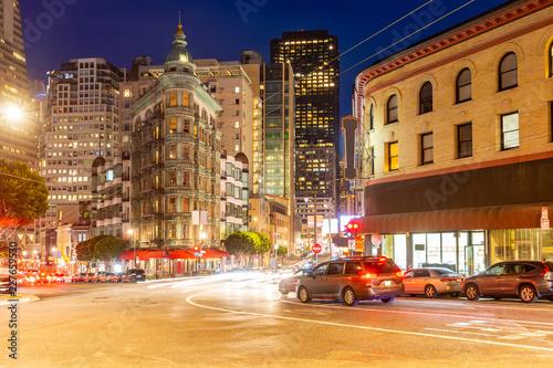 Spoed Foto op Canvas Verenigde Staten San Francisco downtown skyline