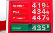 Sign Reflecting High Gas Prices