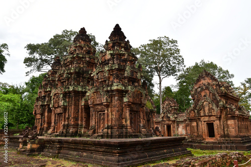 Tuinposter Bali Siem Reap; Kingdom of Cambodia - august 24 2018 : Banteay Srei temple