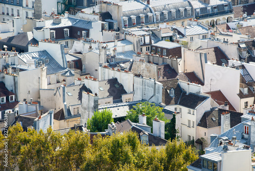 Photo  Paris rooftops seen from tower of Notre Dame.