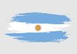 Brush Argentina national flag. Argentina flag isolated on white background. World flag. Vector stock.