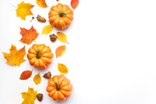 Autumn Composition. Pumpkins, ...