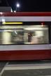 tram at night long exposure