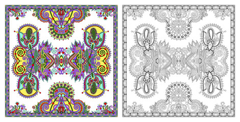 coloring pages, coloring book for adults, authentic carpet desig