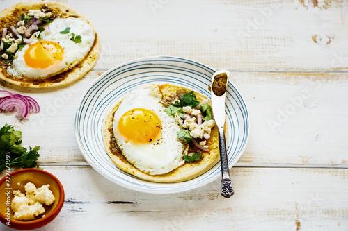 Tortilla with fried egg