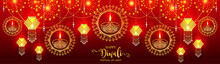 Happy Diwali Festival Card Wit...
